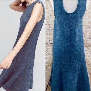 Anthropologie Dresses - Knitted and knotted blue wool dress